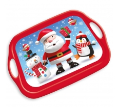 CHRISTMAS PARTY MELAMINE TRAY CHARACTERS