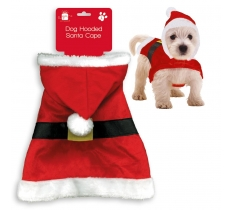 CHRISTMAS PET SANTA CAPE HOODY