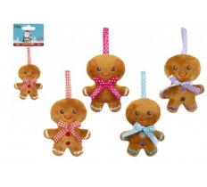 10CM GINGERBREAD MINI PLUSH WITH RIBBON HOOP