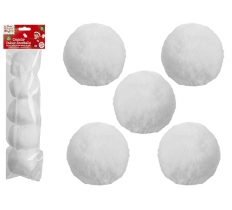 5PC INDOOR SNOWBALLS IN BAG