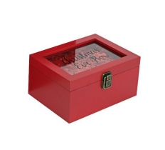 20CM RED CONFETTI XMAS EVE BOX