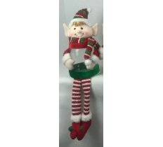 "17"" ELF WITH LONG LEGS CHRISTMAS CANDY JAR"