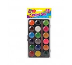 18 COLOUR PAINT BOX WITH PAINT BRUSH