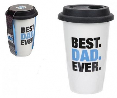320ML DOUBLE WALL WITH LID BEST DAD DESIGN