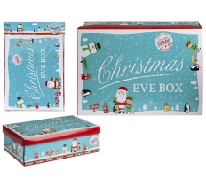 MEDIUM BLUE CHARACTER CHRISTMAS EVE BOX 45 x 34 x 12.5cm
