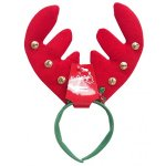 CHUNKY ANTLERS HEADBAND 6 BELLS & HOLLY