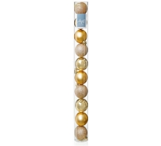 10x 60mm Champagne Gold MultiFinish Balls