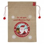 SANTA SACK WITH POM POM DRAW STRING