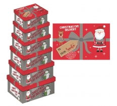 6PC OBLONG XMAS EVE DELIVER BOX