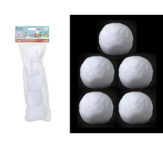 5PC INDOOR SNOWBALLS