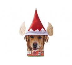 ELF PET HAT WITH ELF EARS & STRAP