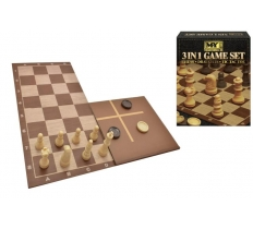 3 IN CHESS, CHESS & TIC TAC TOE GAME SET