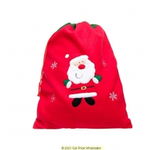 Deluxe Plush Red Santa Christmas Sack 50cm X 70cm