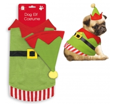 PET ELF COSTUME WITH HAT