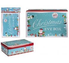 SMALL BLUE CHARACTER CHRISTMAS EVE BOX 21cm x 32cm x 11cm