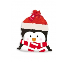 PENGUIN PLUSH SANTA SACK