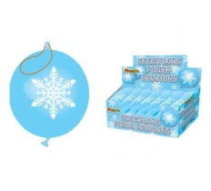 SNOWFLAKE PUNCH BALLOONS x 60 ( 20p Each )