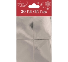 SILVER FOIL GIFT TAGS 20 PACK