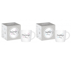 GIFT MUG MUMMY OR DADDY 12 Oz NEW BONE CHINA