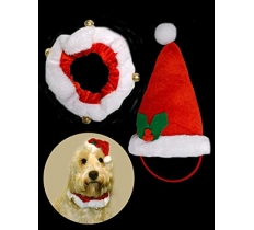 PET SANTA HAT & COLLAR SET