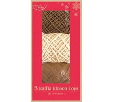 SET 3 NATURAL RAFFIA RIBBON