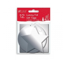 TAGS 12 FOILED D/C - SILVER
