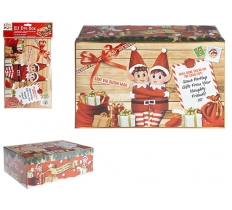 SMALL ELF XMAS EVE BOX 21cm X 32cm X 11cm