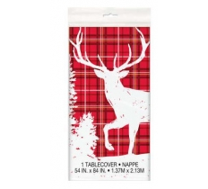 DEER PLASTIC TABLECOVER 54X84CM