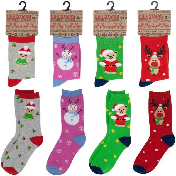 KIDS COTTON CHRISTMAS SOCKS [SK301GW] - £0.60 : Xmaswholesaler