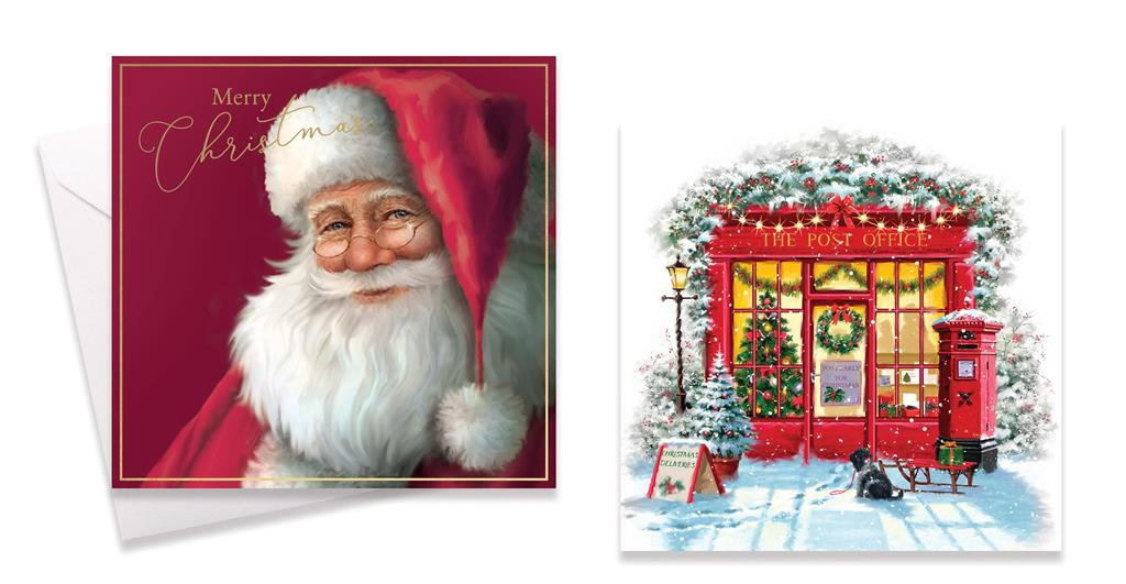 10 PACK PLATFORM TRADITIONAL CHRISTMAS CARDS
