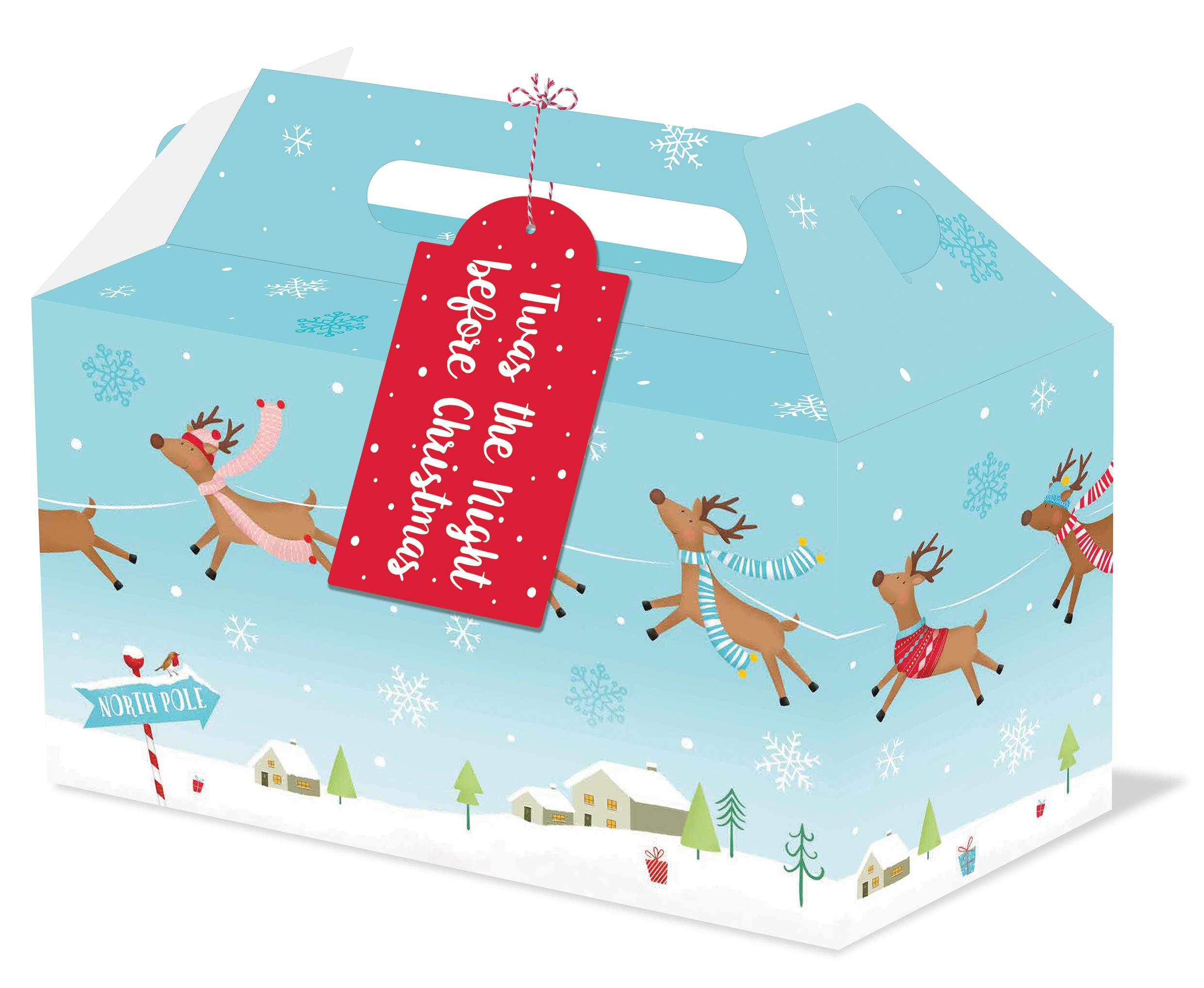 2 X CHRISTMAS EVE BOXES 33X20X15CM