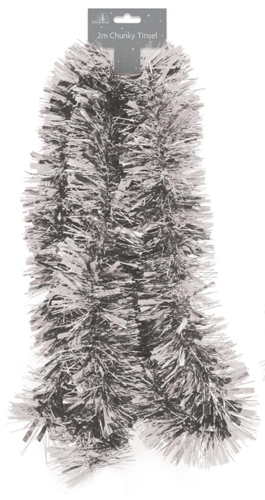 Tinsel - Silver Chunky