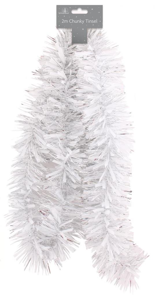 Tinsel - White/Silver Chunky